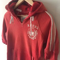Ruehl sweatshirt Excellent condition // shorter sleeves (they go to about the elbow) // red-orange // front pocket Ruehl No. 925 Tops Sweatshirts & Hoodies