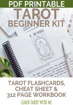 Tarot Beginner's Kit Learn the Tarot Card by LearnTarotWithMe
