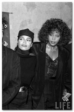 Whitney with Janet Jackson! Love them both<3