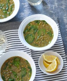 Ethiopian-Style Spinach + Lentil Soup — Instant Pot, Crock Pot, Pressure-Cooker Recipes from Laura Pazzaglia Spinach Lentil Soup, Lentil Soup Recipes, Lentil Stew, Chili Recipes, Pressure Cooker Recipes, Pressure Cooking, Slow Cooker, Instant Pot, Ethiopian Lentils