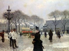 A Winter's Day on Kongens Nytorv Copenhagen by Paul Gustave Fischer