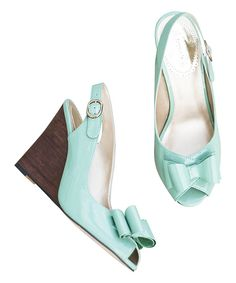 Look at this Spring Green Valencia Wedge Sandal - Women on #zulily today!