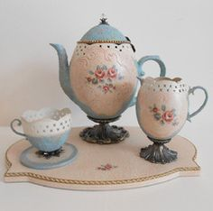 Tea Time - Stella Saenz Artes Decorativas