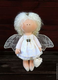Collectible dolls handcrafted.  Fair Masters - handmade.  Buy Guardian Angel.  Handmade.  White, gift, doll gift