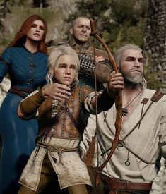 Witcher 3 Wild Hunt, The Witcher 3, Geralt And Ciri, The Last Wish, Triss Merigold, Manga Games, Game Art, Cosplay Costumes, Art Reference