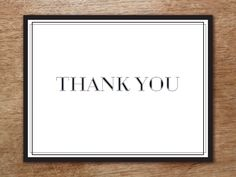 You'll love creating these DIY black and white thank you cards and your guests will love receiving them. Just print, cut, fold and add your thank you card wording.