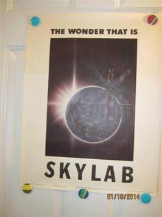 Kelly Freas The Wonder that is Skylab NASA Poster Space Science Fact Fiction