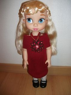 Cindy in her new sweater dress with bling