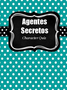 Used with the novel, Agentes secretos y el mural de Picasso, this is a Summative Quiz used after Chapter 2 of the novel. It is a fill in the blanks style test, going over important traits of the 4 characters of the novel.Check out my other Resources related to Agentes Secretos below!FREE!