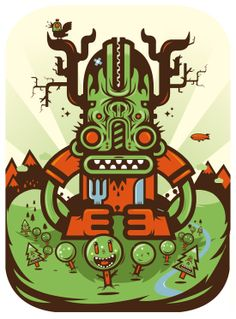 Illustrations by Seb NIARK1 FERAUT, via Behance