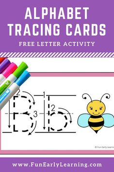 Alphabet Animal Tracing Cards are the perfect writing practice for uppercase and lowercase letters! This fun letter printable is free and great for toddlers preschool kindergarten and early childhood! Preschool Literacy, Kindergarten Writing, Kindergarten Activities, Preschool Activities, Handwriting Activities, Alphabet Activities, Teaching Letters, Alphabet Writing Practice, Handwriting Practice
