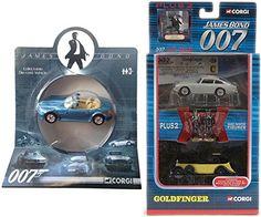 Aston Martin Goldfinger & 007 BMW Goldeneye Z3 Roadster James Bond Corgi Car Set @ niftywarehouse.com #NiftyWarehouse #Bond #JamesBond #Movies #Books #Spy #SecretAgent #007