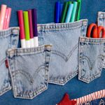 All kinds of recycled denim crafts!