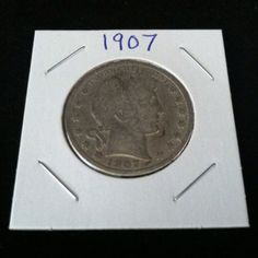 1907 Barber 90% Silver Half Dollar .900 Fine Silver & Free USA Shipping #silver #barber #coins #c2cth