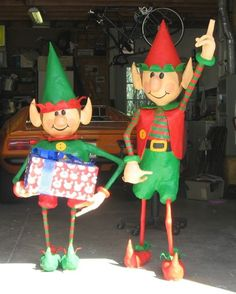 whimsical paper mache elves