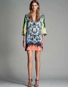 Polygon A-line Mini Dress