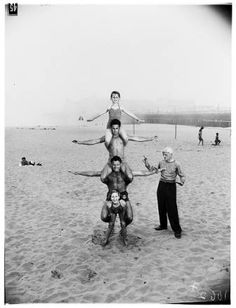 12 year old strong girl at Muscle Beach, 1954 :: Los Angeles Examiner Collection, 1920-1961    #Strength #Beach
