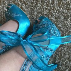 Embellished Lace Wedding Shoes, Teal Satin Embroidered Bridal Shoes Teal blue wedding shoes, something blue, lace embellished bridal shoes. Colorful Wedding Shoes, Blue Bridal Shoes, Satin Wedding Shoes, Satin Shoes, Lace Wedding, Teal Blue Weddings, Chunky Heel Shoes, Dress Shoes, Shoes Heels