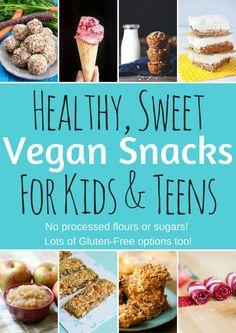 Healthy Vegan Snacks fro Kids and Teens - Sweet Recipes - VeganFamilyRecipes.com #dessert #snack #health