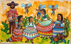 in designs - mexican paintings - mexican decor - mexican art history - mexican art for sale - mexican art facts - mexican art tattoos - mexican artists - Mexican Artwork, Mexican Paintings, Mexican Folk Art, Family Painting, Woman Painting, I Love Mexico, Mexican Artists, Naive Art, Sale Poster