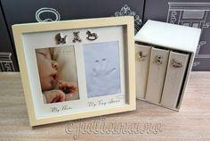 Album triplu rama amprenta manuta Album, Frame, Decor, Picture Frame, Decoration, Decorating, Frames, Card Book, Deco