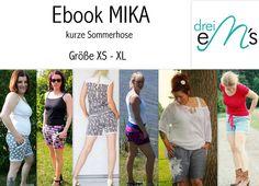Nähanleitungen Mode - ebook kurze Hose MIKA Gr.XS - XL - ein Designerstück von dreiems-Materialshop bei DaWanda