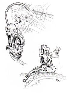 Daniel Rebour drawing