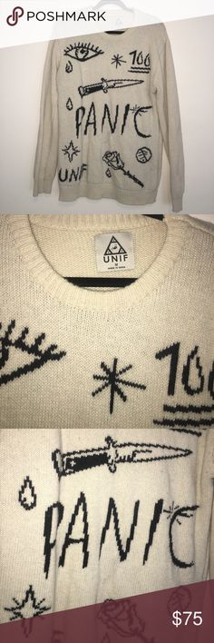 UNIF OVERSIZED SWEATER WORN ONCE! Perfect sweater for winter! UNIF Sweaters Crew & Scoop Necks
