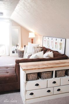 DIY Refinished Side Table with Tons of Storage by Ella Claire.