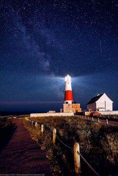 The Milky Way at Portland Bill Lighthouse, Portland, Dorset, England
