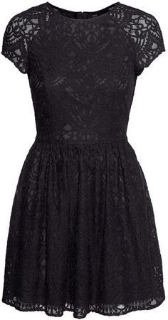 H amp M LACE BLACK SHORT DRESS Lace Dress Black 25e58ce19