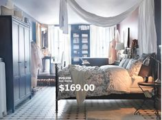 I love the idea of a canopy hanging over my bed!