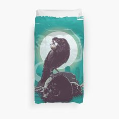 Black Duvet Cover, Crow, Duvet Covers, My Arts, Art Prints, Printed, Awesome, Artist, Products