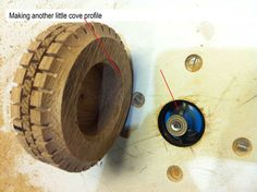 Wooden toys wheel making #4: Tire