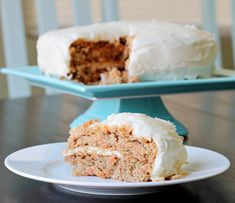 Carrot Spice Cake with Greek Yogurt - Domestically Speaking