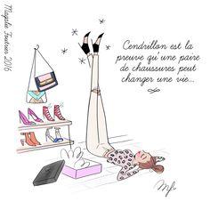 Les chaussures : une histoire de filles. - Les chroniques illustrées de Magalie