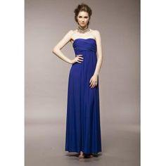 Vestido de saia azul vestido era seção peito magro envolto longo  €15.99