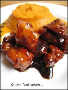 Caramelized chicken with balsamic vinegar and Espelette pepper - When Nad cooks . - Caramelized chicken with balsamic vinegar and Espelette pepper - I Love Food, Good Food, Yummy Food, Cooking Time, Cooking Recipes, Asian Recipes, Healthy Recipes, Salty Foods, Chicken Recipes
