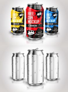 Free Soda Can PSD Mock-ups #freemockups #psdmockups #freepsdmockups #freepsdfiles