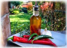 Aromatyzowany olej z chili i czosnkiem
