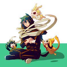 Boku no Hero Academia || Midoriya Izuku, Aizawa Shouta, All Might, Present Mic.