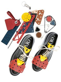 """LOEWE Men's Collection """"Meccano"""" Accessories SS 2015"""
