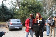 Donnette Fry and Race Director Les Moeti Marathon, Racing, Tours, Running, Marathons, Auto Racing