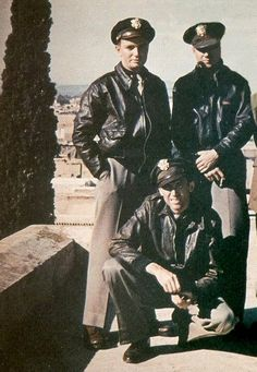 Captain James Stewart with pilots of his squadron in Marrakesh on the way to England. November 1943. -