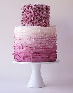 Purple Ombre Flower Cake