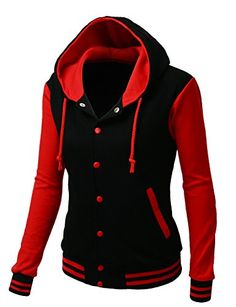 New Trending Outerwear: Women's Stylish High Quality Fabric Hoodie Baseball Jacket Coats BLACKRED Size S. Special Offer: $27.99 amazon.com XPRIL is clothing company that carries professionally in Men's wear, Wome's wear, Active wear, and Fashion Accessories.Our goal is to provide our buyers dynamic and variety styles of clothes to make sure anyone can find items they desire and even...