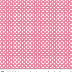 Riley Blake Designs - Le Creme Basics - Small Cream Dots in Hot Pink