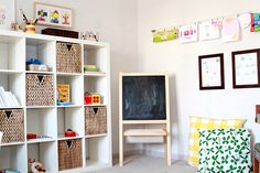 Nothing too fancy or fussy, but encourage play. *See more of this space on The Sleepy Time Gal