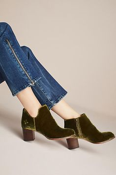 Patricia Nash Velvet Side-Cut Booties (ad) #AnthroFave #AnthroRegistry