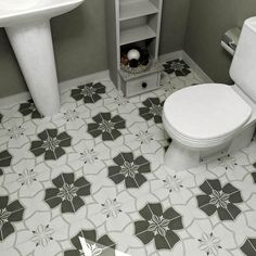 Transform any space including bathrooms and kitchens by installing this elegant Merola Tile Twenties Crest Ceramic Floor and Wall Tile. Bathroom Flooring, Kitchen Flooring, Modern Flooring, Kitchen Backsplash, Ceramic Flooring, White Flooring, Farmhouse Flooring, Linoleum Flooring, Basement Flooring